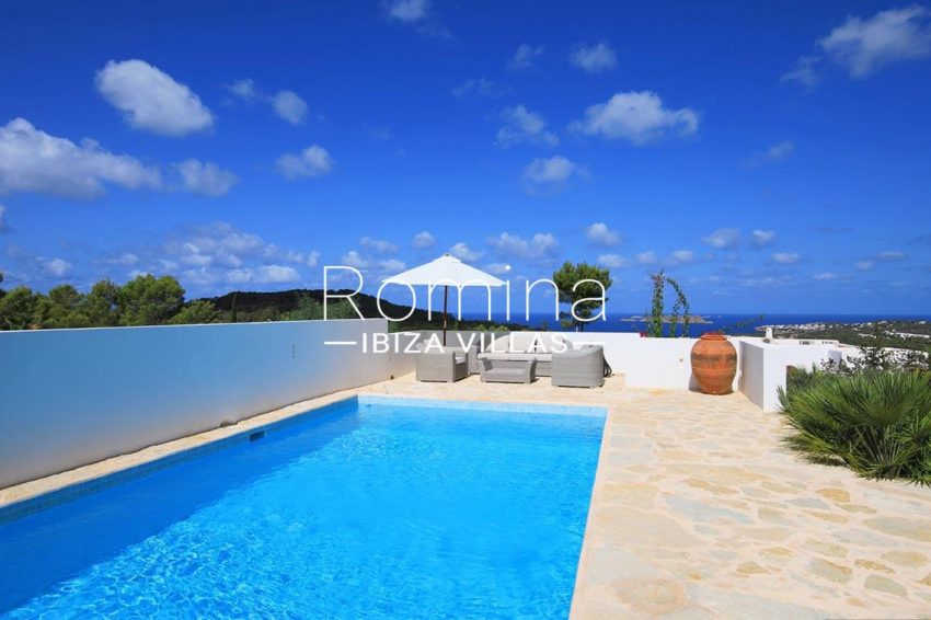 villa capricci ibiza-1pool terrace sea view