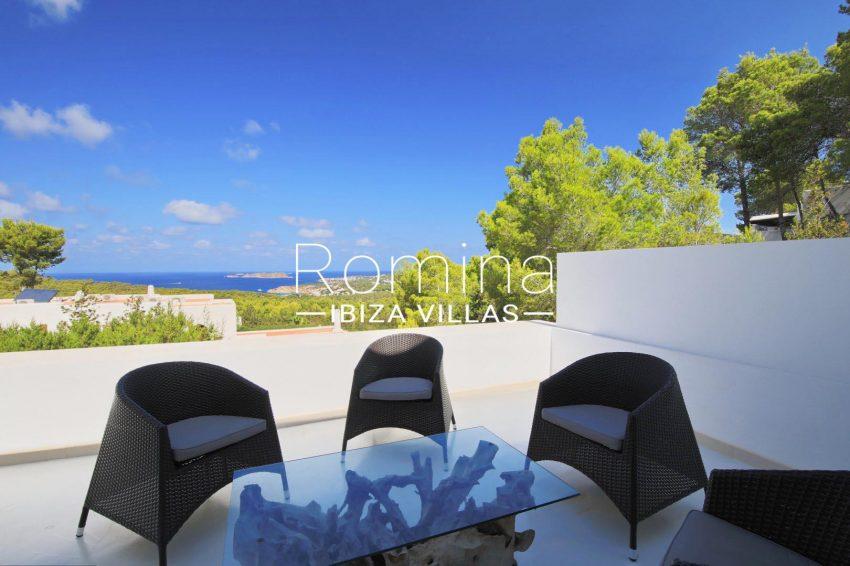 villa capricci ibiza-1terrace dining area sea view