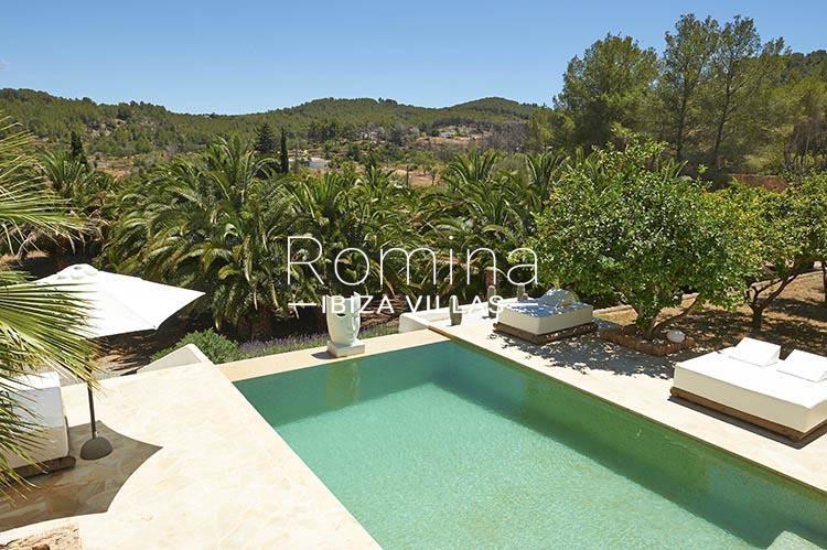 villa palmeras ibiza-2pool viewhills