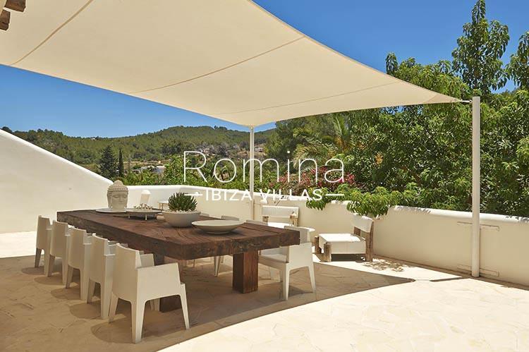villa palmeras ibiza-2terrace dining area sail
