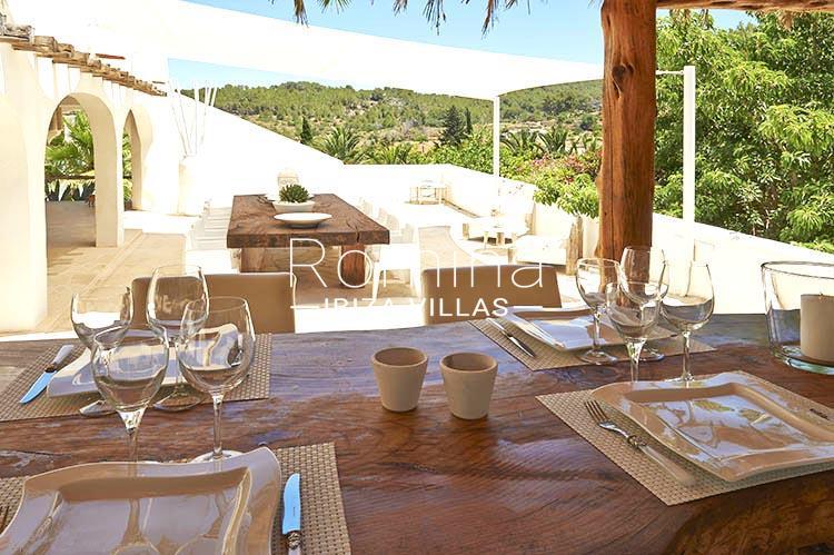 villa palmeras ibiza-2terrace dining areas