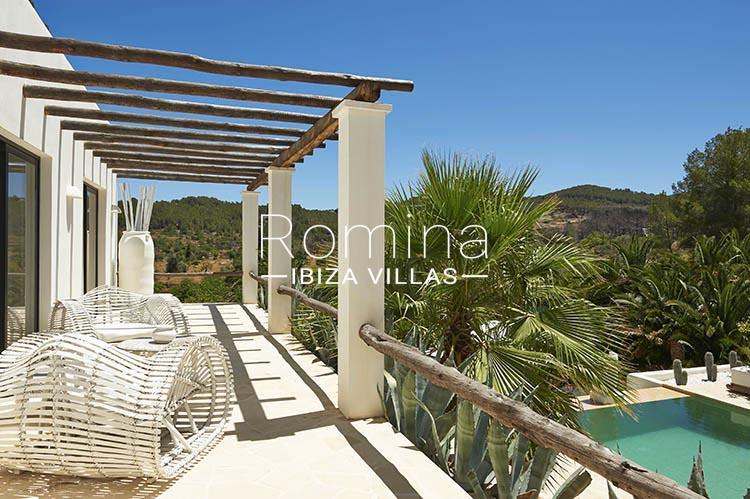 villa palmeras ibiza-2upper terrace