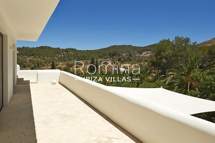 villa palmeras ibiza-2upper terrace view hills