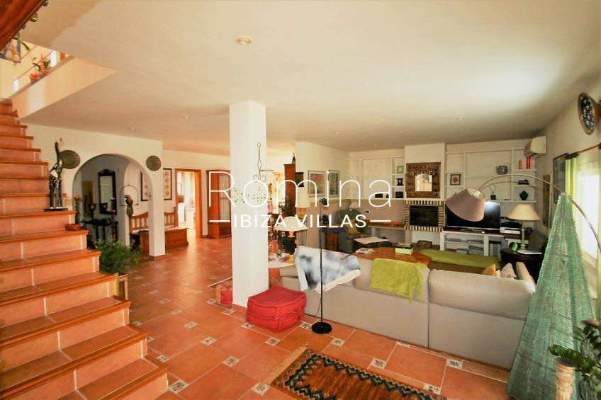 casa sur ibiza-3living room stairs