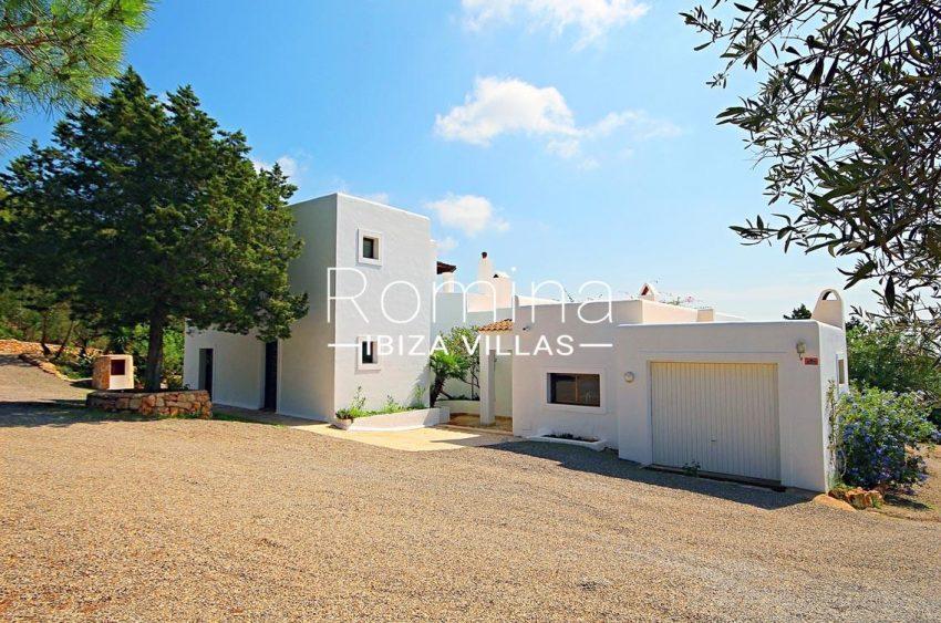 villa artemis ibiza-2rear facade garage