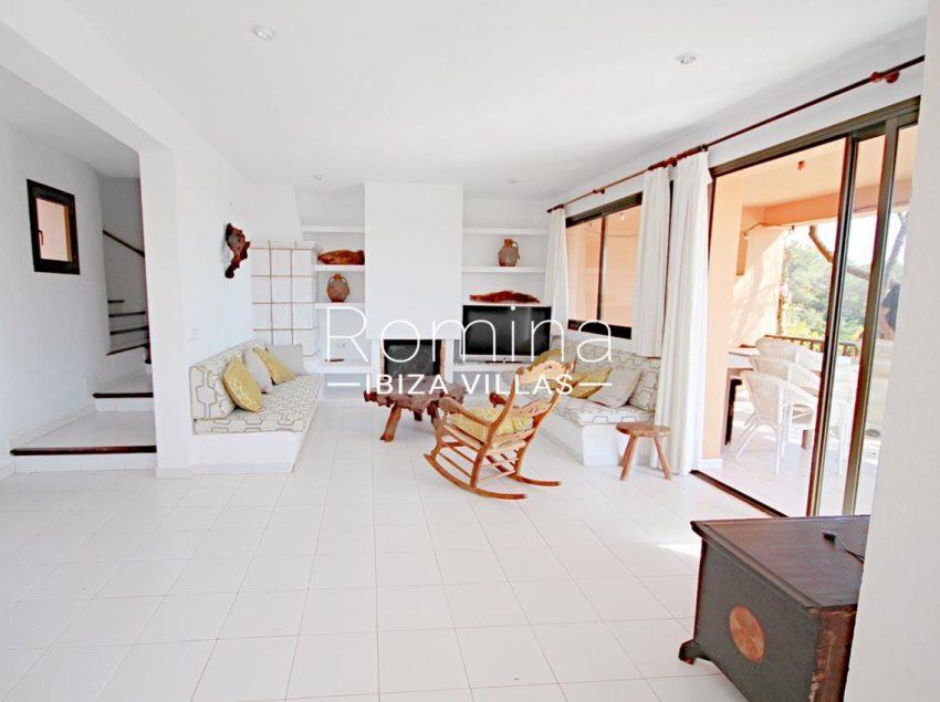 villa artemis ibiza-3livin room fireplace