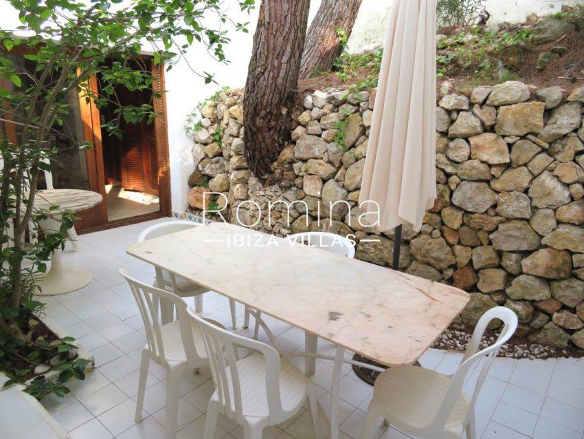 villa kelly ibiza-2terrace dining area