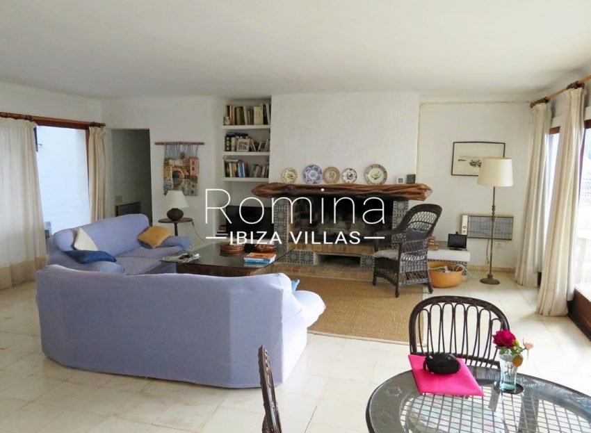 villa kelly ibiza-3living room fireplace