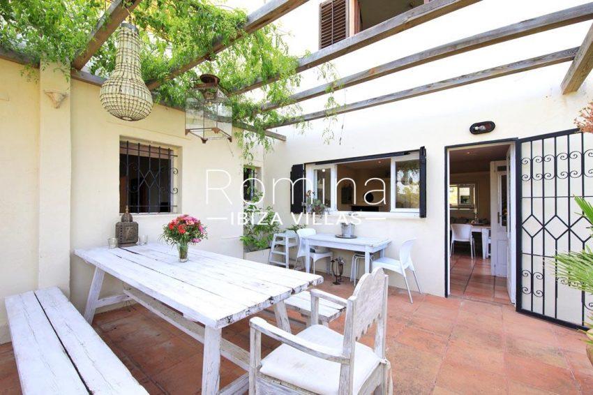 villa shanti ibiza-2terrace pergola dining area