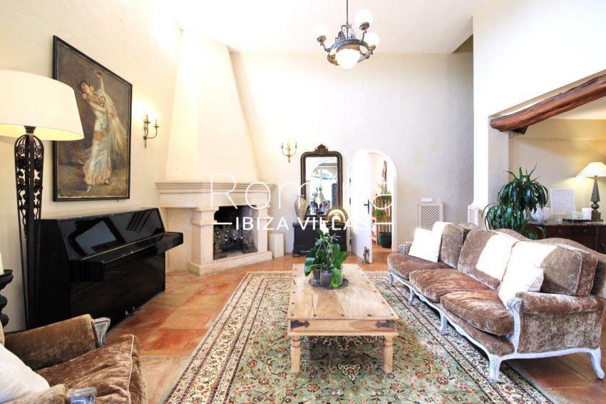 villa shanti ibiza-3living room fireplace