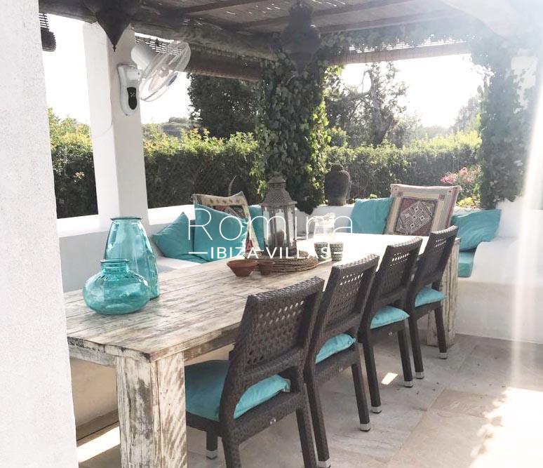 can alba ibiza-2pergola terrace dining area