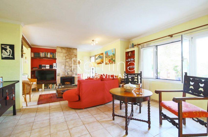 casa ciguena ibiza-3living room fireplace