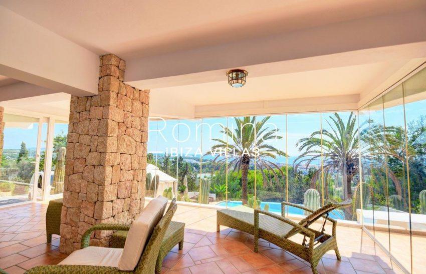villa gio ibiza-3glazed terrace sea view