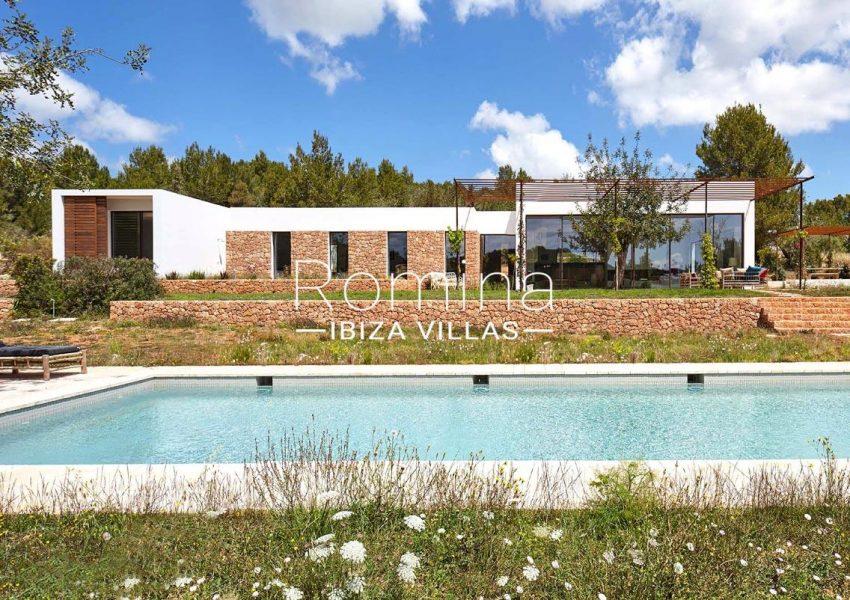 villa hera ibiza-2pool facade