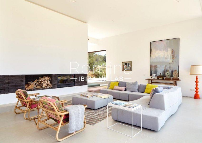 villa hera ibiza-3living room fireplace