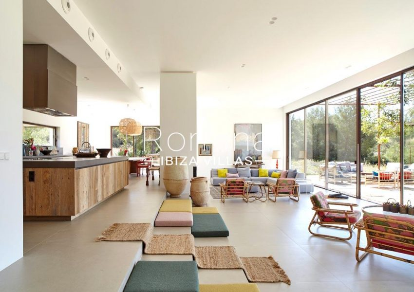 villa hera ibiza-3living room kitchen