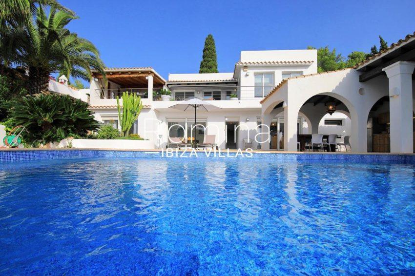 villa hibiscus ibiza-2pool facade
