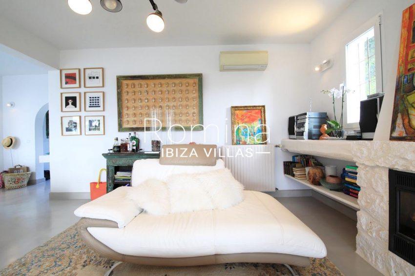 villa hibiscus ibiza-3living room fireplace2