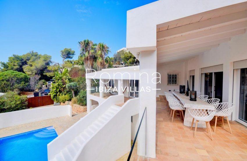 villa turquesa ibiza-2terrace dining area