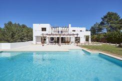 facade pergola terrace pool RV673 Can Ika romina ibiza villas
