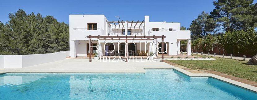 facade pergola terrace pool RV673 Can Ika romina ibiza villas