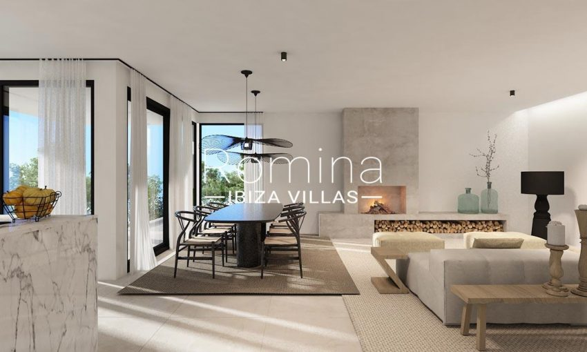 romina-ibiza-villas-rv722-proyecto-can-furnet-3render living dining room fireplace