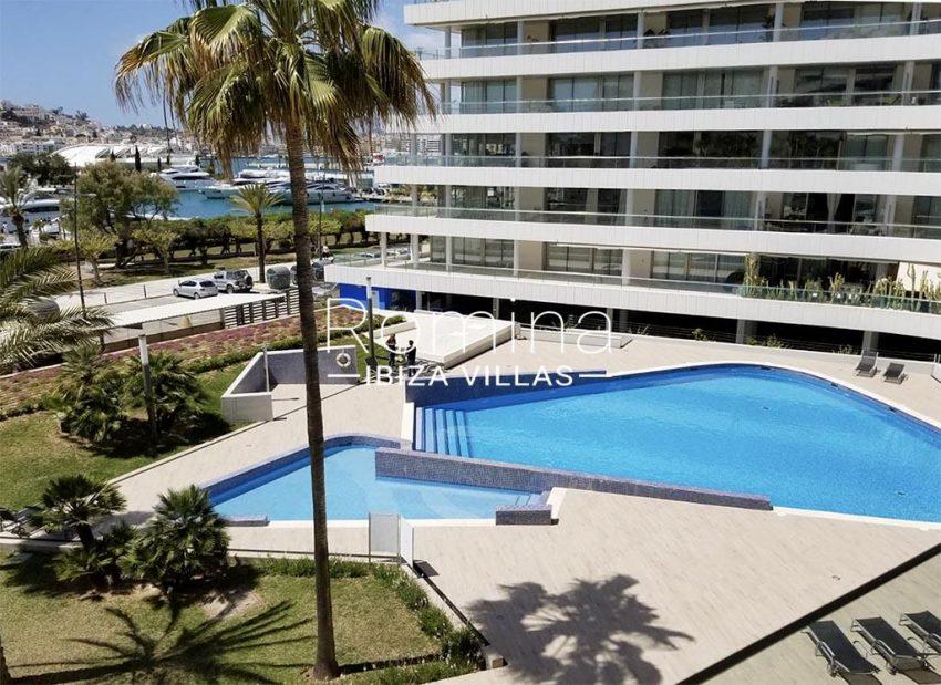 romina-ibiza-villas-rv734-apto-miramar-paseo1-1pool facade sea views