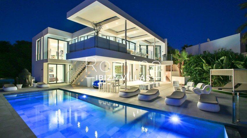 romina-ibiza-villas-rv-771-79-villa-calista-2pool facade by night2