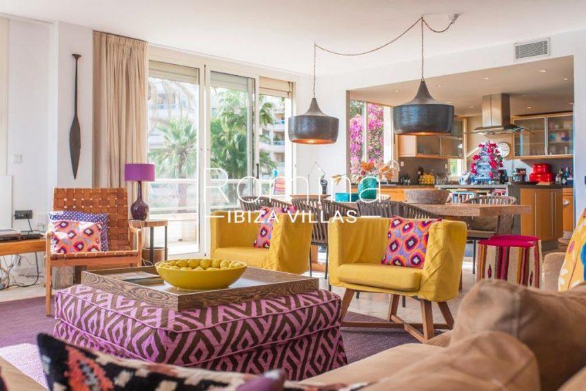 romina-ibiza-villas-rv-832-88-apto-bossa-vistas-3living dining room kitchen