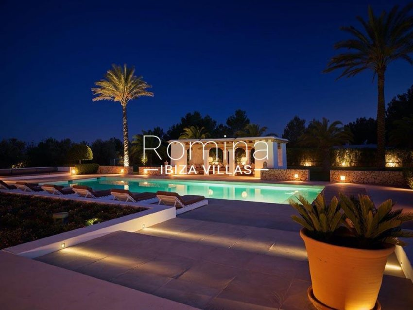 romina-ibiza-villas-rb-868-27-can-miklos-2pool terrace pool house night